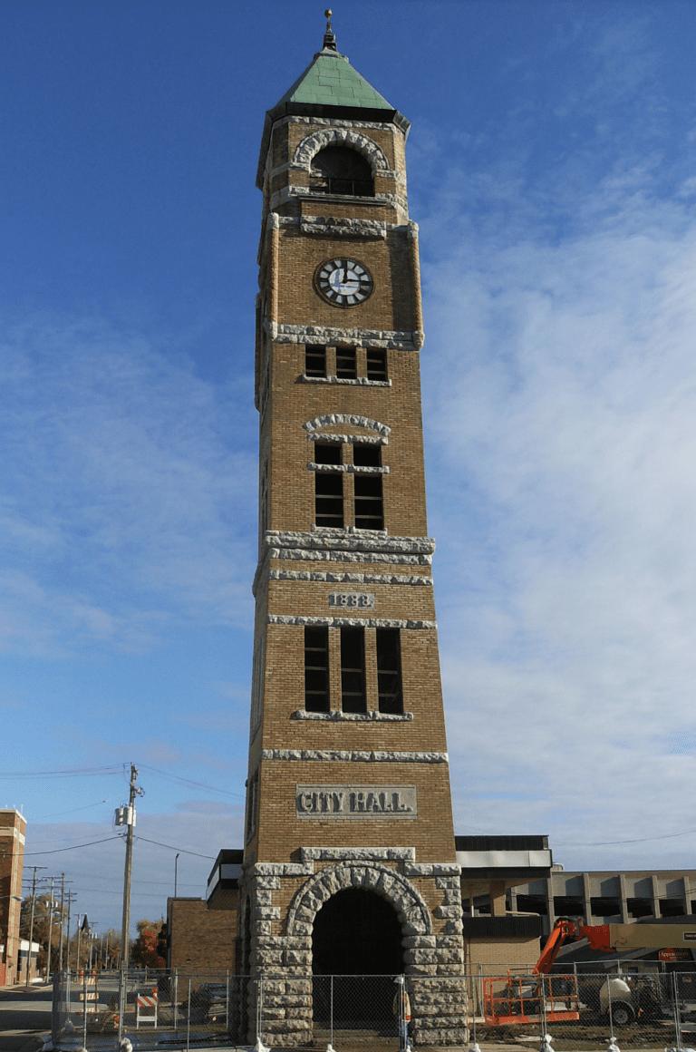 Neenah Clock Tower After Nawkaw Portfolio