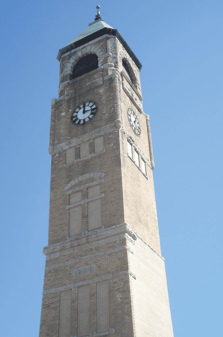 Neenah Clock Tower Before Nawkaw Portfolio